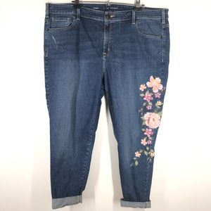 Lane Bryant Skinny Jean Floral Embroidered Size 24